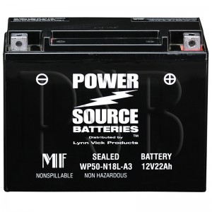 1989 FLTCU 1340 Tour Glide Ultra Motorcycle Battery for Harley
