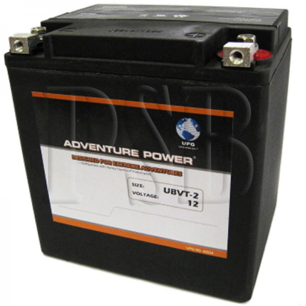 ubvt 2 motorcycle battery replaces 66010 97c for harley davidson oem fit sealed agm free shipping. Black Bedroom Furniture Sets. Home Design Ideas