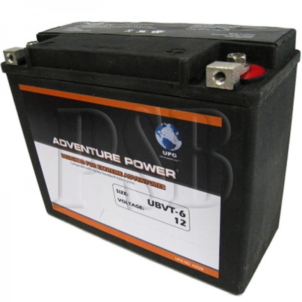 ubvt 6 motorcycle battery replaces 66010 82 for harley davidson oem fit sealed agm free shipping. Black Bedroom Furniture Sets. Home Design Ideas
