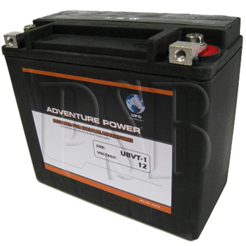ubvt 1 motorcycle battery replaces 65989 97c for harley davidson oem fit sealed agm free shipping. Black Bedroom Furniture Sets. Home Design Ideas