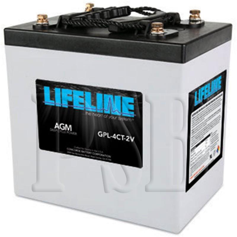 Gpl 4ct 2v Lifeline Oem 2 Volt 660ah Sealed Agm Deep Cycle