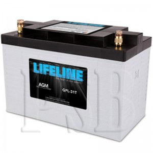 GPL-31T Lifeline 12 Volt 100ah Group 31 Deep Cycle Marine Battery