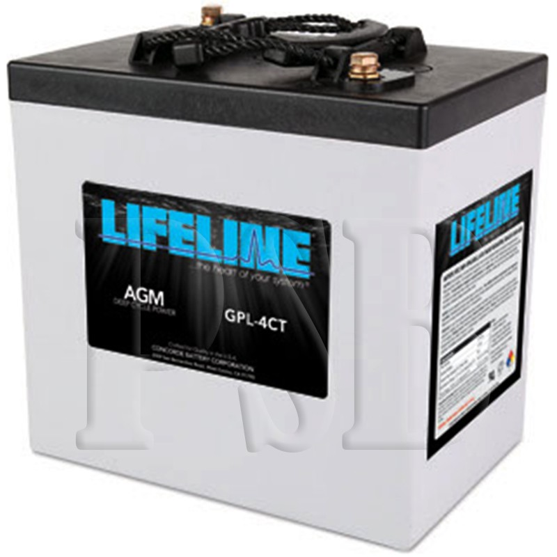 gpl 4ct lifeline oem 6 volt 220ah sealed agm deep cycle rv battery free shipping. Black Bedroom Furniture Sets. Home Design Ideas