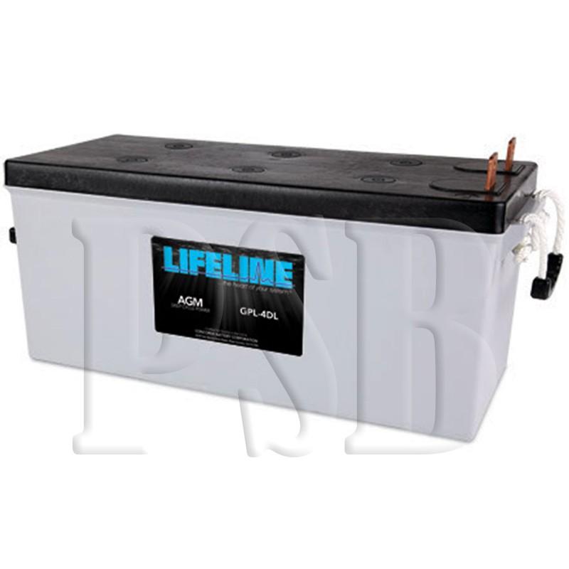 Gpl 4dl Lifeline Oem 12 Volt 210ah 4d Sealed Agm Deep