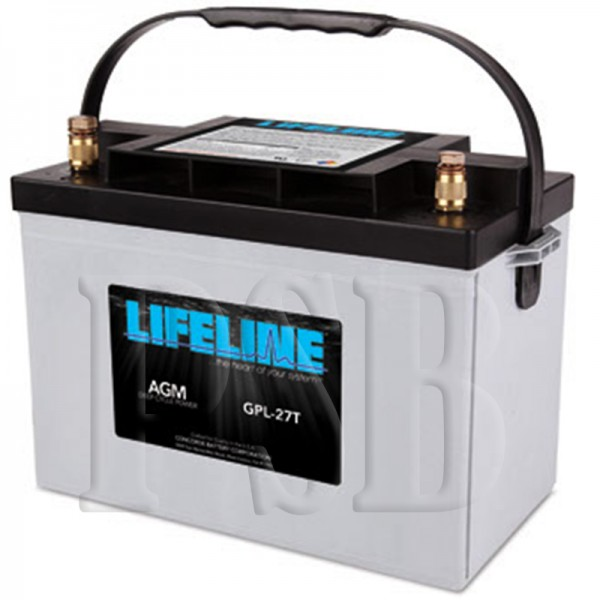 Gpl 27t Lifeline Oem 12 Volt 100ah Group 27 Sealed Agm