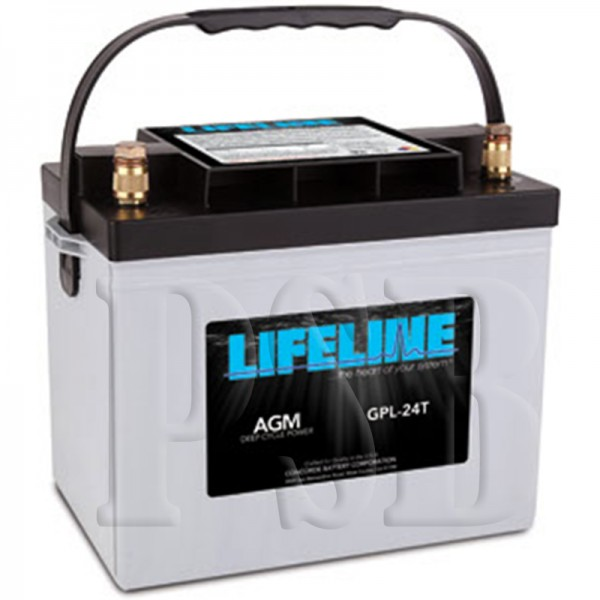 gpl 24t lifeline oem 12 volt 80ah group 24 sealed agm deep cycle rv battery free shipping. Black Bedroom Furniture Sets. Home Design Ideas