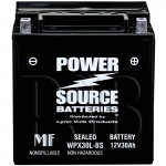 WPX30L-BS 30ah AGM Battery replaces Bikers Choice YB30L-B, 58-1111