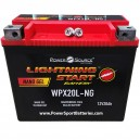 500cca 20ah Lightning Start Battery replaces 65989-90A for Harley