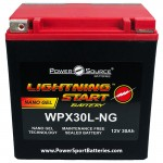 WPX30L-NG 600cca Battery replace Parts Unlimited 2113-0102 YIX30L-BS
