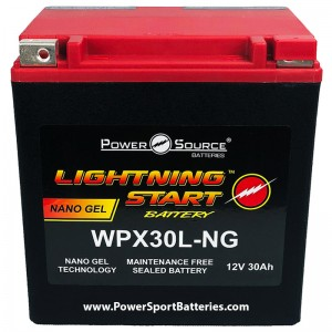 WPX30L-NG 600cca Battery replaces BikeMaster MS12-30L-BS, 78-0728