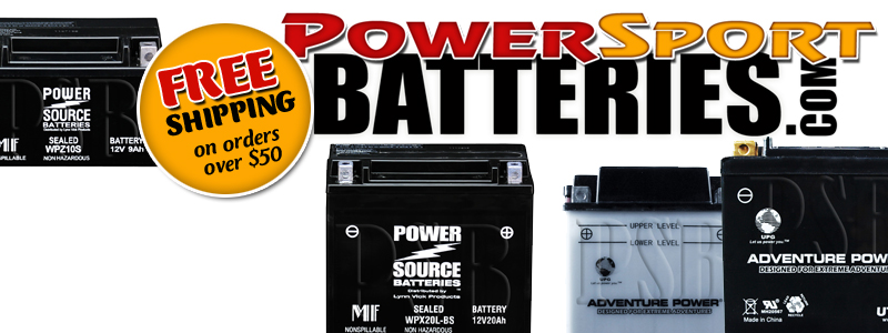 POWERSPORT BATTERIES FREE SHIPPING Special