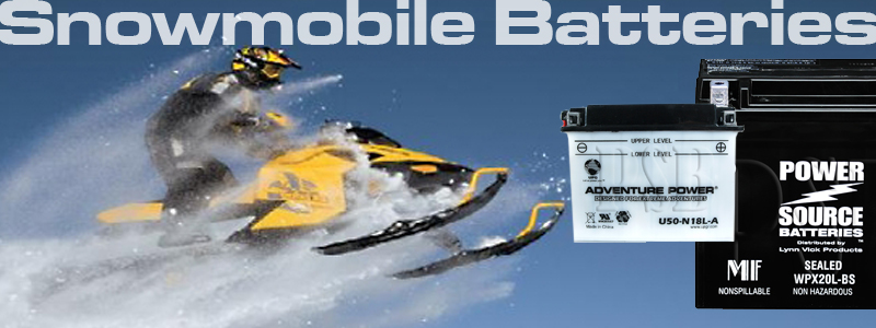 SNOWMOBILE BATTERIES AND CHARGERS