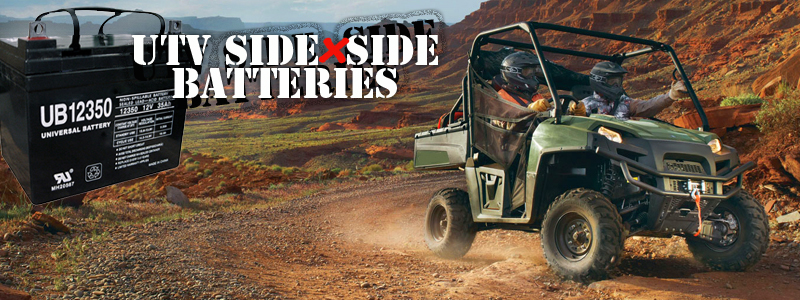 UTILITY VEHICLE UTV SIDE X SIDE BATTERiES